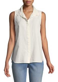 Not Your Daughter's Jeans Button-Front Linen/Cotton Blouse