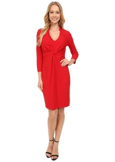 Not Your Daughter's Jeans Christa Knotted Stretch Crepe Dress