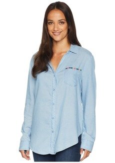NYDJ Classic Tencel Shirt w/ Embroidery