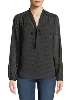 Not Your Daughter's Jeans Clip-Dot Crinkle Chiffon Illusion Blouse