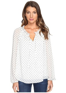Not Your Daughter's Jeans Clipped Jacquard Soft Blouse