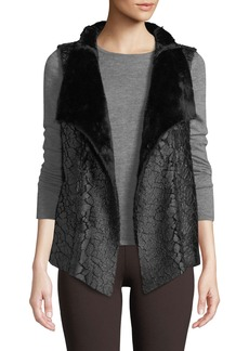NYDJ Coated Faux-Fur Vest