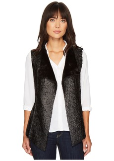 NYDJ Coated Faux Fur Vest