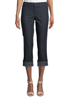 Not Your Daughter's Jeans Dayla Embroidered-Cuff Capri Jeans