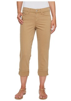 Not Your Daughter's Jeans Dayla Wide Cuff Capris in Sepia