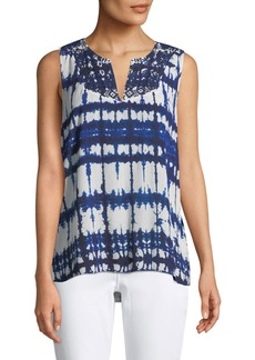Not Your Daughter's Jeans Embroidered Tie-Dye Blouse