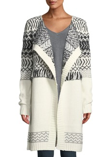 Not Your Daughter's Jeans Fair Isle Cascade Cardigan W/ Fringe