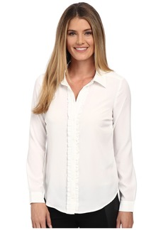 Not Your Daughter's Jeans Fit Solution Ruffle Front Blouse