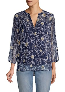 Not Your Daughter's Jeans Floral Silk Blouse