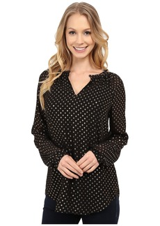 Not Your Daughter's Jeans Foil Print Dots Blouse