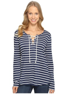 Not Your Daughter's Jeans French Terry Lace-Up Top