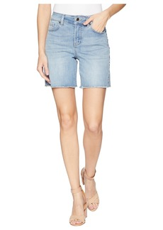 Not Your Daughter's Jeans Jenna Shorts with Side Seam Embroidery in Clean Cloud Nine