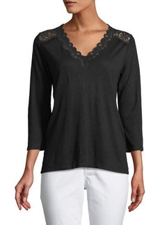 Not Your Daughter's Jeans Lace-Trimed Jersey Tunic
