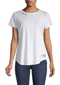 NYDJ Lace-Trimmed Tee