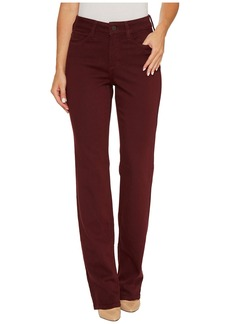 Not Your Daughter's Jeans Marilyn Straight Jeans in Luxury Touch Denim in Deep Currant