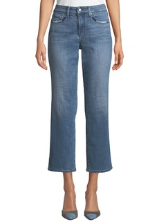 NYDJ Marilyn Whipstitch-Trim Straight Leg Jeans