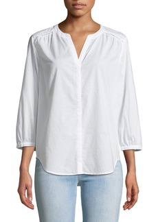 Not Your Daughter's Jeans Military Trim 3/4-Sleeve Poplin Blouse