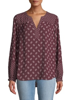 Not Your Daughter's Jeans Mixed-Print Peasant Blouse