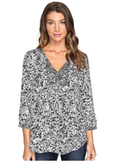 Not Your Daughter's Jeans Mixed Print Peasant Blouse