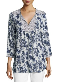 Not Your Daughter's Jeans 3/4-Sleeve Floral-Print Peasant Top