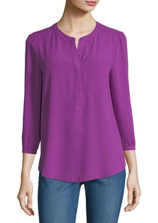 Not Your Daughter's Jeans NYDJ 3/4-Sleeve Pleated-Back Blouse
