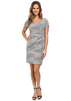 NYDJ Agnes Side Pleated Sheath Dress