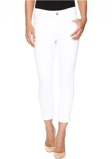 NYDJ Alina Convertible Ankle in Optic White