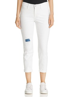Not Your Daughter's Jeans NYDJ Alina Cuffed Ankle Jeans in Destructed White