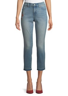 NYDJ Alina Embroidered Ankle Jeans