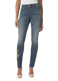 Not Your Daughter's Jeans NYDJ Alina Embroidered Legging Jeans in Desert Gold