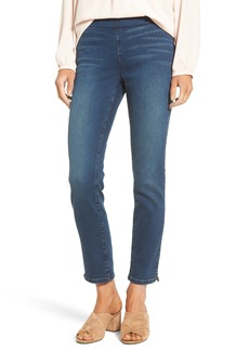 Not Your Daughter's Jeans NYDJ Alina Pull-On Stretch Ankle Skinny Jeans (Sea Breeze) (Regular & Petite)