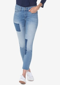 Not Your Daughter's Jeans Nydj Alina Two-Tone-Patch Ankle Skinny Jeans