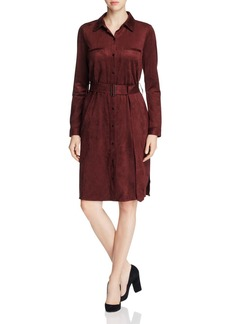 Not Your Daughter's Jeans NYDJ Allison Faux Suede Shirt Dress