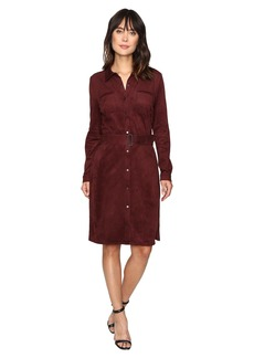 NYDJ Allison Faux Suede Shirtdress