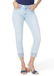 Not Your Daughter's Jeans NYDJ Ami Embroidered Border Ankle Skinny Jeans (Palm Desert)