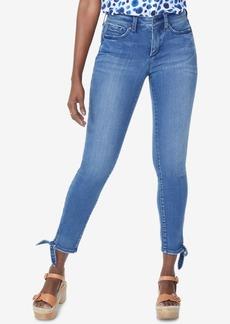Nydj Ami Tie-Cuff Skinny Ankle Jeans