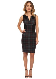 NYDJ Aubrey Printed Plaid Dress