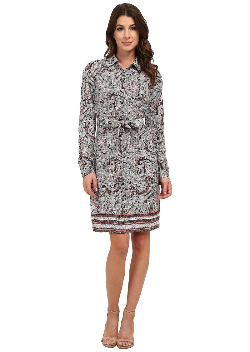 Not Your Daughter's Jeans NYDJ Bernadette Paisley Border Shirt Dress