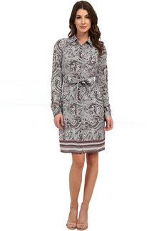 Bernadette Paisley Border Shirt Dress