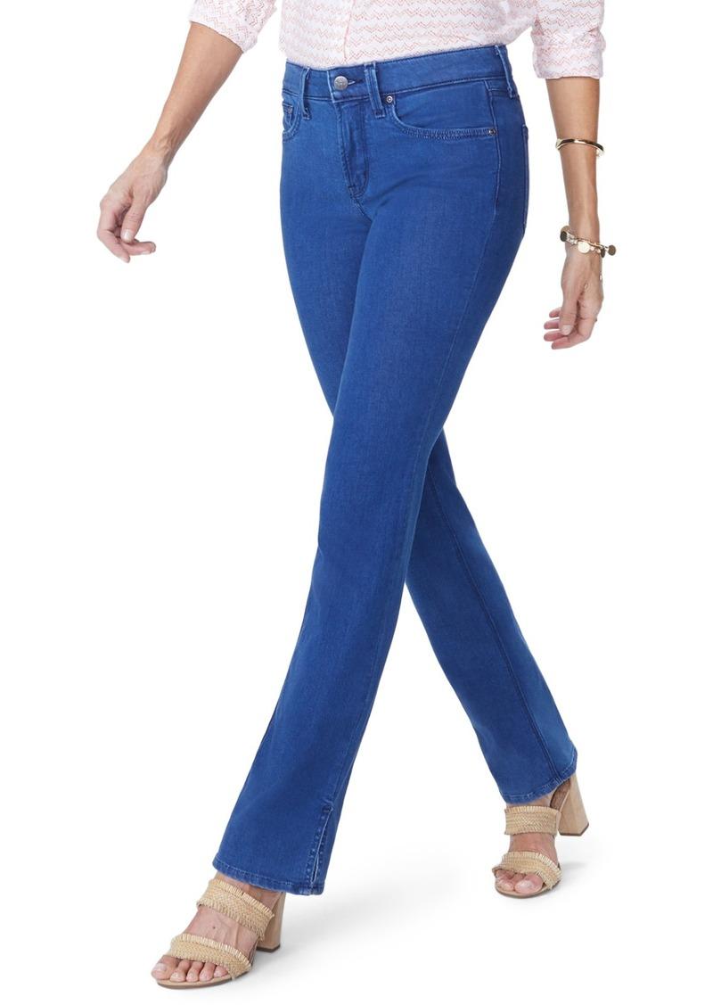 17fb4c4a04e NYDJ NYDJ Billie Side Slit Mini Bootcut Jeans