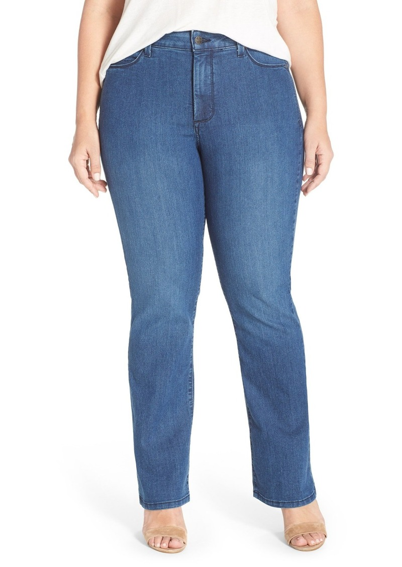 NYDJ 'Billie' Stretch Mini Bootcut Jeans (Yucca Valley) (Plus Size)