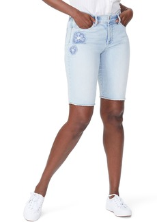 Not Your Daughter's Jeans NYDJ Briella Dream Blossom Denim Bermuda Shorts