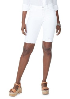 Not Your Daughter's Jeans NYDJ Briella Eyelet Detailed Denim Shorts