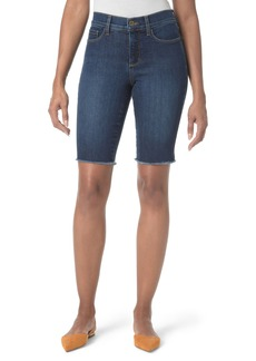 Not Your Daughter's Jeans NYDJ Briella Fray Hem Denim Bermuda Shorts