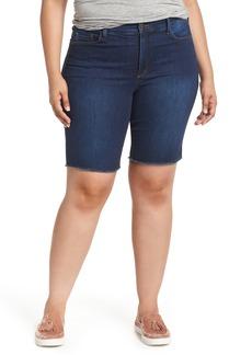 Not Your Daughter's Jeans NYDJ Briella Fray Hem Denim Bermuda Shorts (Plus Size)