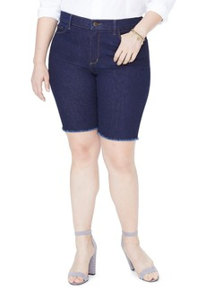Not Your Daughter's Jeans NYDJ Briella Fray Hem Denim Bermuda Shorts (Plus Size)