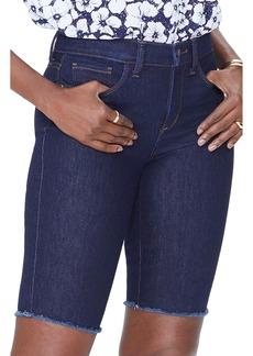 Not Your Daughter's Jeans NYDJ Briella Fray Hem Denim Bermuda Shorts