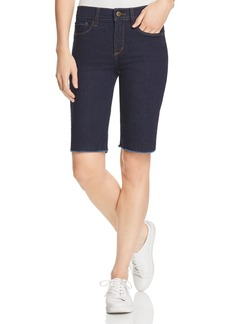 Not Your Daughter's Jeans NYDJ Briella Frayed Denim Bermuda Shorts