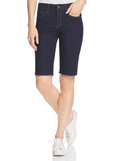 NYDJ Briella Frayed Denim Bermuda Shorts