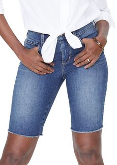 Not Your Daughter's Jeans NYDJ Briella Frayed Denim Shorts